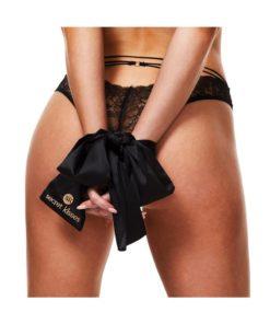 Secret Kisses Luxe Satin Bondage Strap - Black