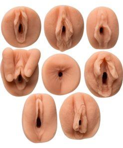 All Star Porn Stars Gang Bang Collector`s Set Ultraskyn Masturbators (8 Piece Kit)- Pussy and Butt - Vanilla