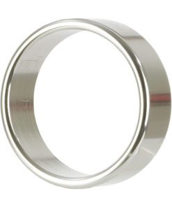 Alloy Metallic Cock Ring - Extra Large - 2in - Silver