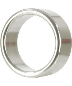 Alloy Metallic Cock Ring - Medium - 1.5in - Silver