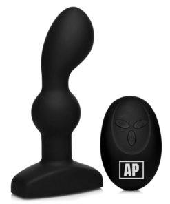 Alpha-Pro P-Spin Vibrating Prostate Stimulator with Spinning Beads - Black