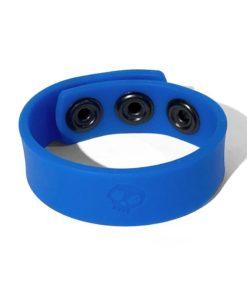 Boneyard Silicone Cock Strap 3-Snap Ring - Blue