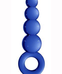 Chrystalino Tickler Glass Butt Plug 4.5in - Blue