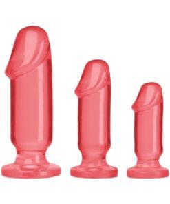 Crystal Jellies Anal Starter (3 Piece Kit) - Pink