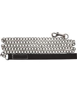 Edge Chain Leash 47in - Black/Silver