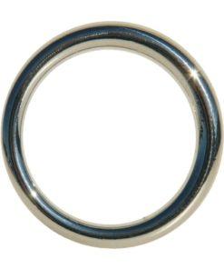 Edge Seamless O-Ring Metal Cock Ring 1.5in - Silver