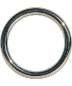 Edge Seamless O-Ring Metal Cock Ring 1.75in - Silver