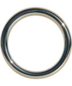 Edge Seamless O-Ring Metal Cock Ring 2in - Silver