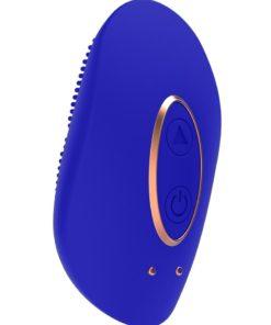 Elegance Precious Mini Clitoral Stimulator Silicone Rechargeable Vibrator - Blue