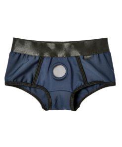 EM. EX. Active Harness Wear Fit Harness Boy Shorts - Large - Blue