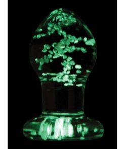 Firefly Glass Plug Butt Plug Glow In The Dark - Clear