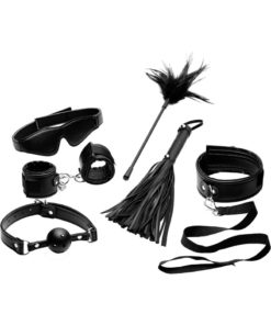 Frisky Tame Me 8 Piece Beginner Bondage Set - Black