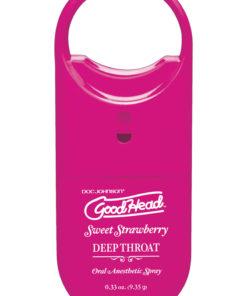 Goodhead Deep Throat To-Go Oral Anesthetic Spray Strawberry .33oz