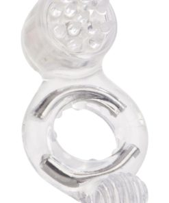 Instant Activation Triple Point Enhancer Vibrating Cock Ring - Clear