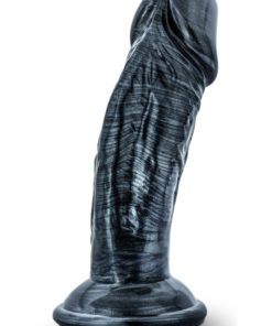 Jet Blackberry Dildo With Suction Cup 4.5in - Carbon Metallic Black