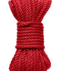 Kink Hogtied Bind and Tie 6mm Hemp Bondage Rope 30 Feet - Red