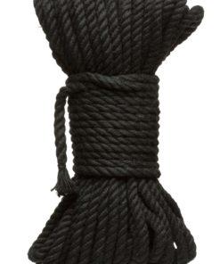 Kink Hogtied Bind and Tie 6mm Hemp Bondage Rope 50 Feet - Black