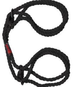 Kink Hogtied Bind and Tie 6mm Hemp Wrist Or Ankle Cuffs - Black