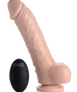 Loadz Vibrating Squirting Dildo with Remote 7in - Vanilla