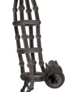 Macho Vibrating Cockcage Sleeve - Black