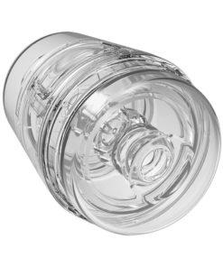 Main Squeeze Pop Off Ultraskyn Compact Masturbator - Clear