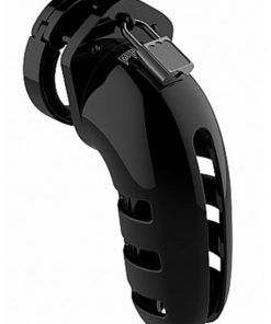 Man Cage Model 06 Male Chastity WitH Lock 5.5in - Black