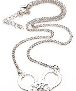 Master Series Cuff Her Handcuff Necklace - Silver