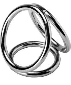 Master Series Triad Chamber Cock And Ball Cage Medium - Silver