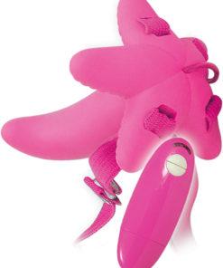 Mini G-Spot Vibrating Strap On - Pink