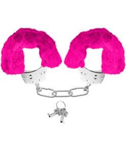 Neon Furry Cuffs Pink