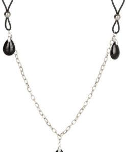 Nipple Play Non Piercing Nipple Chain Jewelry - Onyx