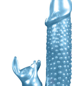 Pearlshine Smooth As Silk The Bumpy Bunny Vibrator 7in - Blue