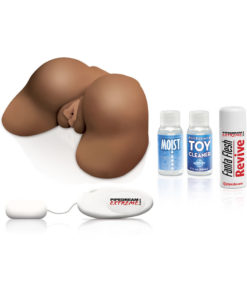 Pipedream Extreme Toyz Junk In Tha Trunk Masturbator - Pussy and Butt - Chocolate