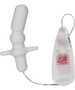 Pocket Exotics Anal T Vibrating Butt Plug - Ivory