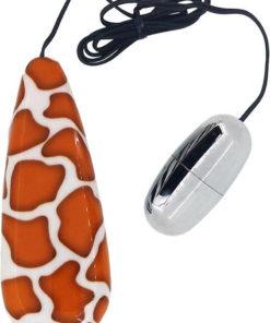 Primal Instinct Bullet With Remote Control - Giraffe Print