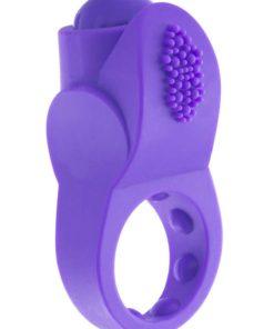 PrimO Apex Silicone Vibrating Ring - Purple