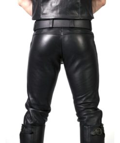 Prowler Red Leather Jeans 35in - Black
