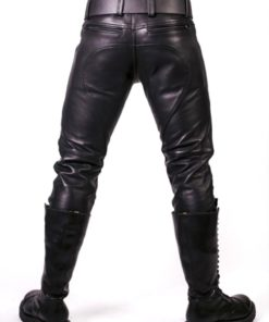 Prowler Red Prowler Leather Jeans 33in - Black
