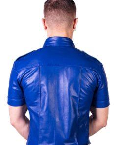 Prowler Red Slim Fit Police Shirt - Medium - Blue