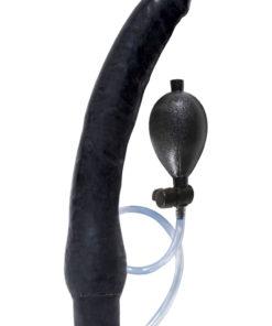 Ram Inflatable Latex Dildo 12in - Black
