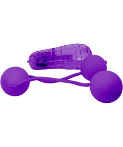 Real Skin Vibrating Ben Wa Kegal Balls - Purple