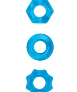 Renegade Chubbies Super Stretchable Cock Rings (Set of 3) - Blue
