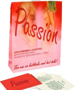 Sensuality Bath Set - Verbena Green Tea Scented Bath Salts With Suggestion Cards