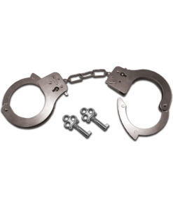 Sex and Mischief Metal Handcuffs - Silver
