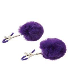Sincerely Fur Adjustable Nipple Clamps - Purple
