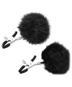 Sincerely Fur Adjustable Nipple Clips - Black