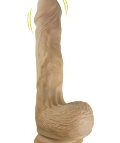 Skinsations Sidewinder Waves + Vibration Realistic Dildo With Wireless Remote Control Waterproof Flesh 9 Inches