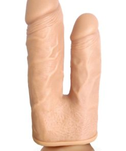 Skintastic Vibrating and Rotation Double Penetration Duplexxx Dildo Silicone Waterproof 6.5 Inches
