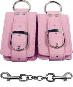 Strapped Plush Restraints - Pink