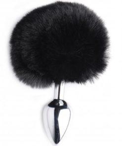 Tailz Onyx Bunny Tail Anal Plug - Black